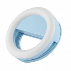 Illuminated selfie ring blue