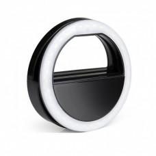 Illuminated Selfie Ring Black
