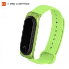 Armorstandart Carbon Silicone Series Fitness Bracelet Strap for Xiaomi Mi Band 4/3 Green