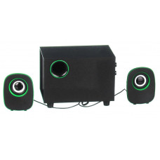 Computer speakers FT-H3 mini 2.1 USB, black with green