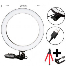 LED ring light USB 12W 26cm for selfie ring, ring light