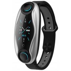 Fitness bracelet with wireless headphones Smart TWS T90 6940, black
