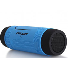 Bicycle bluetooth speaker Zealot S1 with handlebar mount, blue